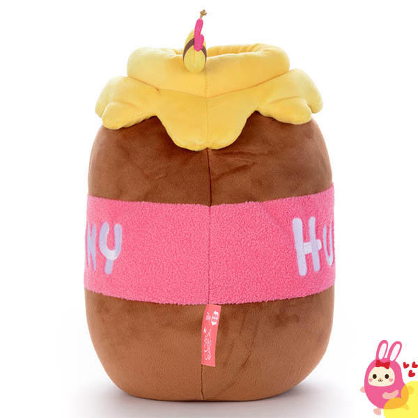 Hamee 日本 迪士尼 Mocchi Mocchi 愛的抱抱 細緻絨毛 療癒娃娃 玩偶 抱枕 靠墊 (蜂蜜罐) TA21285