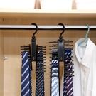 大容量掛鉤領帶收納夾 絲巾圍巾腰帶掛架 可變形20排展示架 熊熊物語