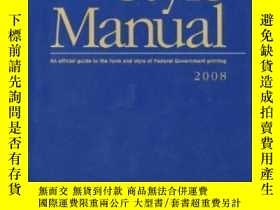 二手書博民逛書店U.罕見S. Government Printing Office Style Manual: An Offici