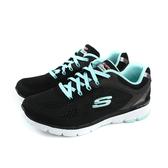 SKECHERS 運動鞋 女鞋 黑/水藍 寬楦 13059WBKTO no066