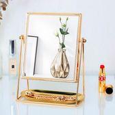 巧柔臺式化妝鏡歐式復古宮廷風梳妝鏡結婚公主鏡非隨身便攜美容鏡