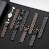 手錶帶代用依超薄柔軟平紋男女配件蝴蝶扣    歐韓流行館