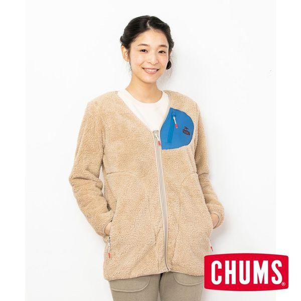 CHUMS 女 Bonding  刷毛大衣 米色 CH141119B001