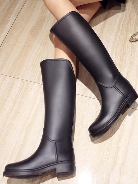雨靴女式時尚款外穿馬靴水鞋女高筒長筒防水膠鞋防滑雨鞋女士水靴 【年終盛惠】