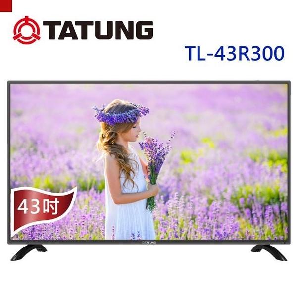 免運費 【TATUNG 大同】43型/43吋 淨藍光 杜比音效 液晶 電視/顯示器 TL-43R300