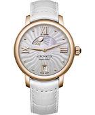AEROWATCH Renaissance 優雅日夜顯示腕錶-玫瑰金框/35mm A44938RO15