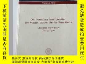 二手書博民逛書店ON罕見Boundary Inrerpolation for M
