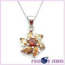 流行飾品 歐美流行款式 花朵造形 鋯石 項鏈【Fulgor Jewel】