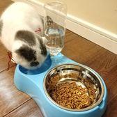 貓咪用品貓碗雙碗自動飲水貓盆貓食盆貓飯碗貓糧盆狗盆狗碗寵物碗     多莉絲旗艦店
