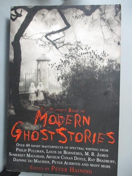 【書寶二手書T7/原文小說_NQL】The Mammoth Book of Modern Ghost Stories: