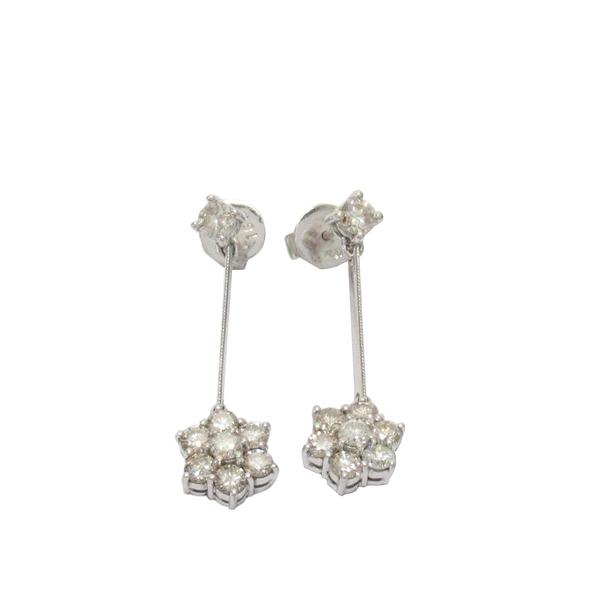 18白K金1.68ct鑽石耳環 Earrings 【BRAND OFF 二手品牌】