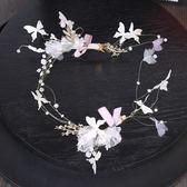 2018新款韓式新娘頭飾手工發箍發帶花朵仙