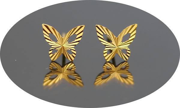 gold 黃金 耳環 金飾 保證卡 重量0.32錢 [ ge 067 ]