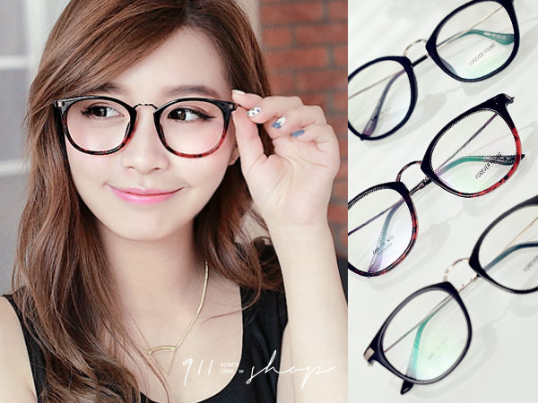 Glint.TR90塑膠鈦X記憶金屬橢圓框光學配鏡框眼鏡【p654】*911 SHOP*