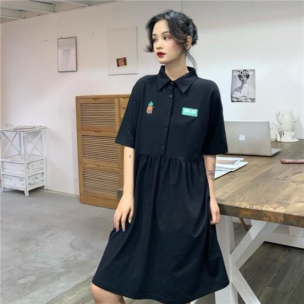 POLO領洋裝 2020年新款夏裙子森女法式小眾清新polo洋裝小個子顯瘦收腰氣質 果果生活館