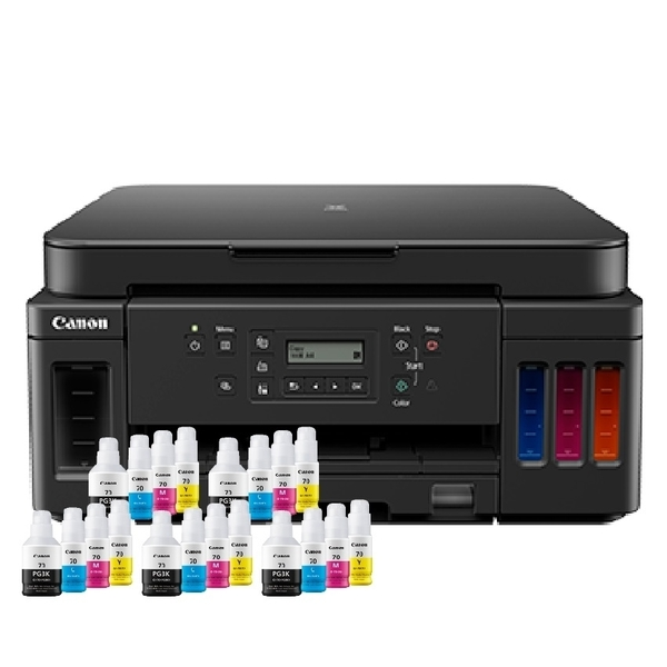 【搭原廠墨水四色五組】CANON PIXMA G6070 原廠大供墨印表機 保固兩年 登錄送禮卷
