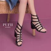 (現貨-除了黑37)PUFII-涼鞋 性感鏤空羅馬涼鞋高跟鞋-0419 現+預 春【CP14469】