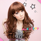 *MoKoShOp*李毓芬雜誌打版款長捲髮全頂假髮 【LY920-5】