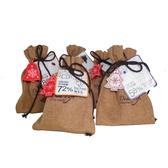 【Diva Life】音樂聖誕-鈕扣巧克力麻布袋 雙包裝(比利時純巧克力)