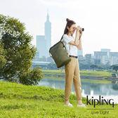 Kipling 城市探索橄欖綠插扣3way百變後背包-REDRO-EDGELAND系列