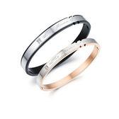 Mao【5折超值價】  【316L西德鈦鋼】最新款創意特殊造型鑲鑽鈦鋼情侶手環