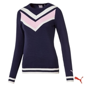 PUMA GOLF W Chevron Sweater 女高爾夫球系列長袖毛衣 577941 01