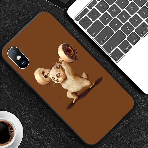 🐈貓Phone [01] 手機殼定制 蘋果全型號 甜甜圈舉重