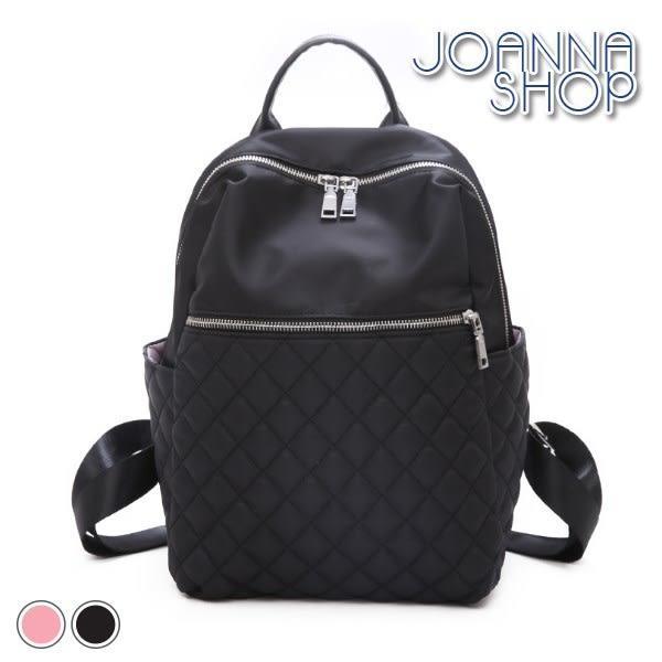 後背包 16號愛人簡單尼龍菱格後背包-Joanna Shop