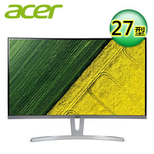 【Acer 宏碁】ED273 27型 VA曲面 薄邊框電腦螢幕 【贈收納購物袋】