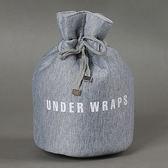 ♚MY COLOR♚棉質圓筒抽繩束口包 防震 抗摔 旅行 收納 雜物 洗漱 內衣 雜物 整理 分類【Y56】