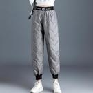羽絨棉保暖棉褲女2020秋冬新款加厚高腰外穿寬鬆大碼顯瘦休閒棉褲 童趣潮品