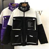 秋冬季韓版學生寬松夾棉工裝棒球服加厚棉服原宿bf港風外套棉衣女