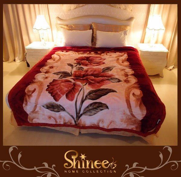 SHINEE 高級《花漾盛開》日本舒柔毯1入 毯子 毛毯 棉被