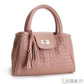 編織包-法國盒子.氣質名媛時尚編織三用包(共三色)5235
