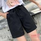 棉麻短褲 女夏季2020新款韓版高腰寬鬆寬管褲薄款顯瘦百搭休閒褲