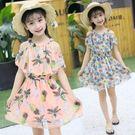 童裝女童洋氣雪紡吊帶兒童洋裝女孩韓版公主裙紗裙 安妮塔小舖