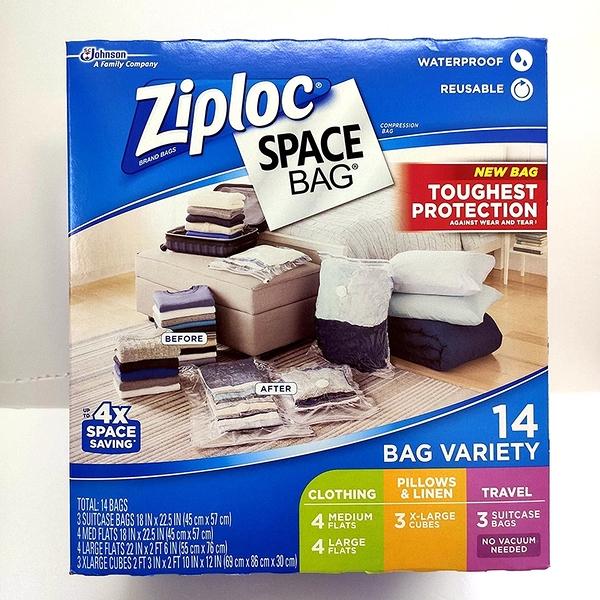 [COSCO代購] ZIPLOC SPACE BAG 真空收納袋14入 14PC STORAGE BAG VARIETY _CA707373