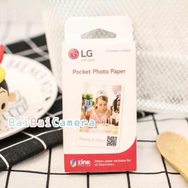 BaiBaiCamera LG Pocket Photo PD239 相紙 拍立得底片 口袋相印機 底片 30張 適用PD239 PD233 PD251