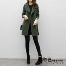 【名模衣櫃】時尚純色雙排扣外套-共3色-(M-2XL可選)  90588
