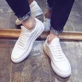 夏季男鞋小白鞋男韓版潮流內增高厚底白色板鞋