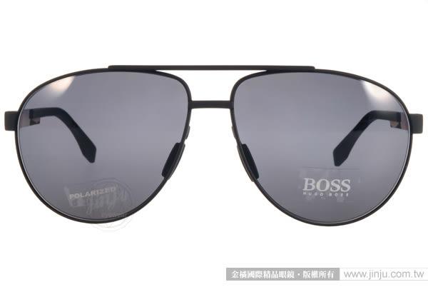 HUGO BOSS 太陽眼鏡 HB0752FS KCQ3H (黑) 男士精品帥氣飛官偏光款 # 金橘眼鏡