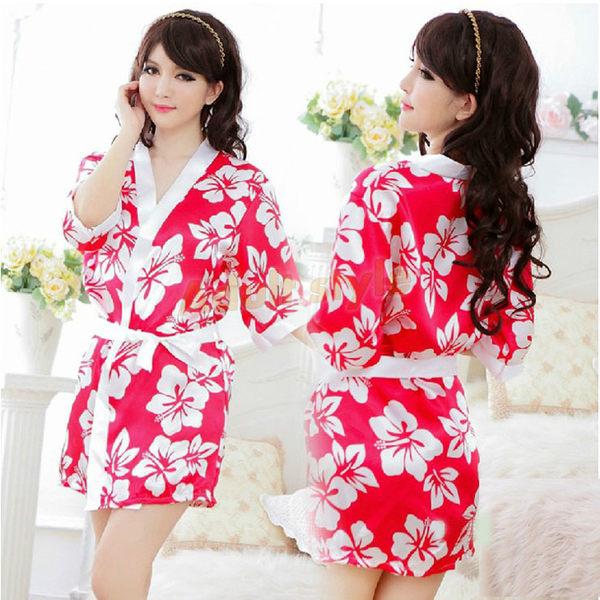 角色扮演 日系 情趣睡衣 情趣用品 大阪香姬 浪漫櫻花和服-秋意濃
