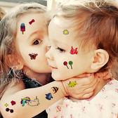 兒童紋身貼防水女持久小清新韓國可愛男孩女孩卡通貼紙安全無毒【全館八八折促銷】