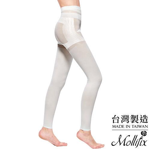 Mollifix瑪莉菲絲 3D極型拉提直紋9分塑身褲 (簡約白)