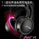飛鷹傳奇Q4耳機頭戴式7.1聲道高品質K歌電腦游戲電競吃雞發燒耳麥 JUST M
