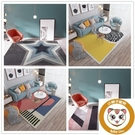 北歐地毯客廳茶幾簡約床邊毯家用墊子【小獅子】