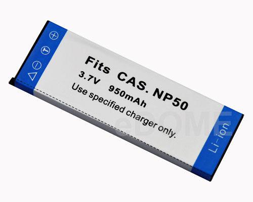 CASIO NP-50 副廠鋰電池 (保固半年 明台產物保險投保5000萬) 3.7V 950mah