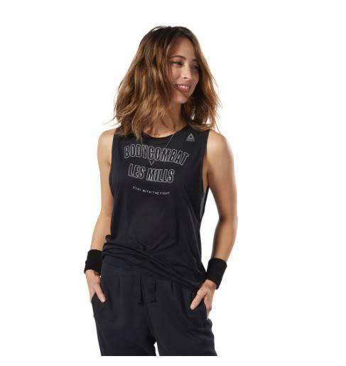 REEBOK LM BODYCOMBAT MUSCLE 女裝 背心 慢跑 訓練 透氣 黑 【運動世界】 ED3678