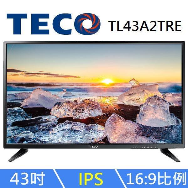 【免運費】 東元 43吋 低藍光 電視/液晶顯示器+視訊盒 TL43A2TRE