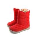 瞬足 SYUNSOKU 雪靴 短靴 紅色 防水 大童 童鞋 ELEW448-R no023